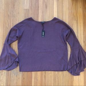 Express Bell sleeves knit top M NWT